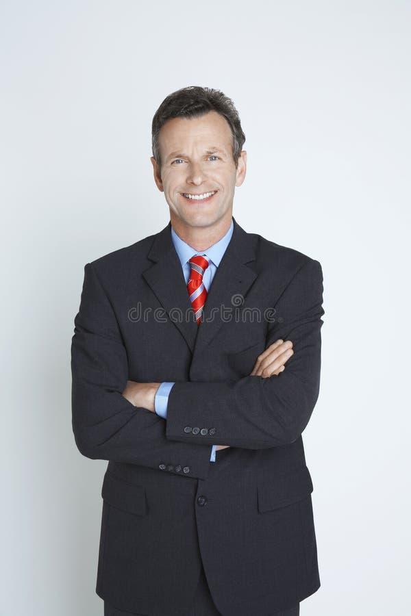Портрет счастливого мужского предпринимателя стоковые изображения rf