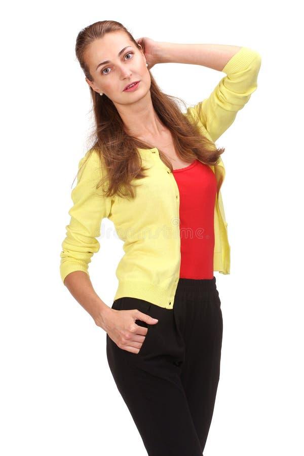 Портрет счастливой красивейшей женщины стоковая фотография