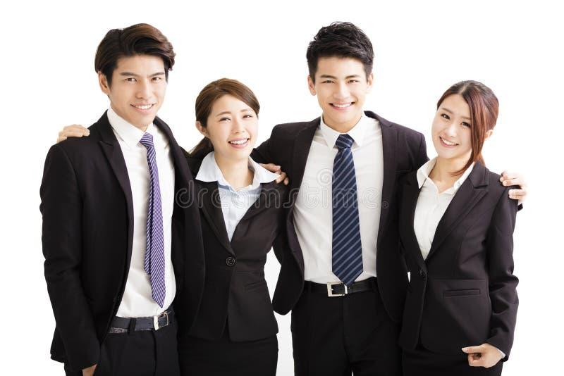 Портрет счастливой молодой бизнес-группы стоковое изображение rf