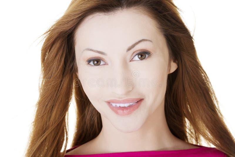Портрет счастливой middleaged женщины стоковые изображения