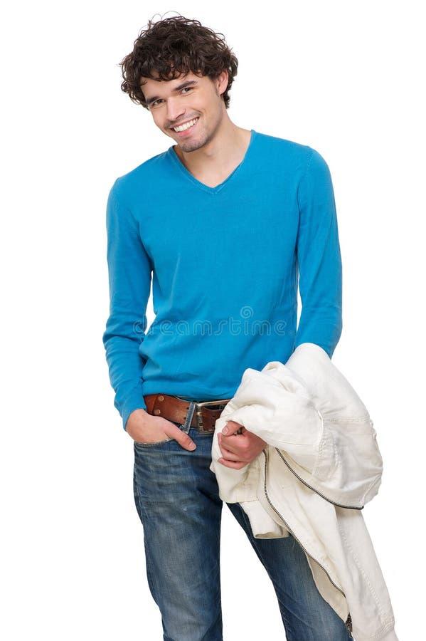 Счастливый усмехаться молодого человека стоковое изображение