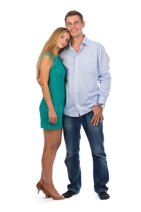 Портрет счастливых красивых пар без сокращений стоковые изображения rf