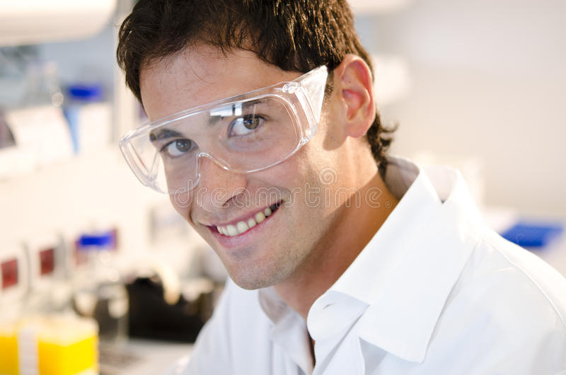 Портрет ся молодого исследователя стоковые изображения rf