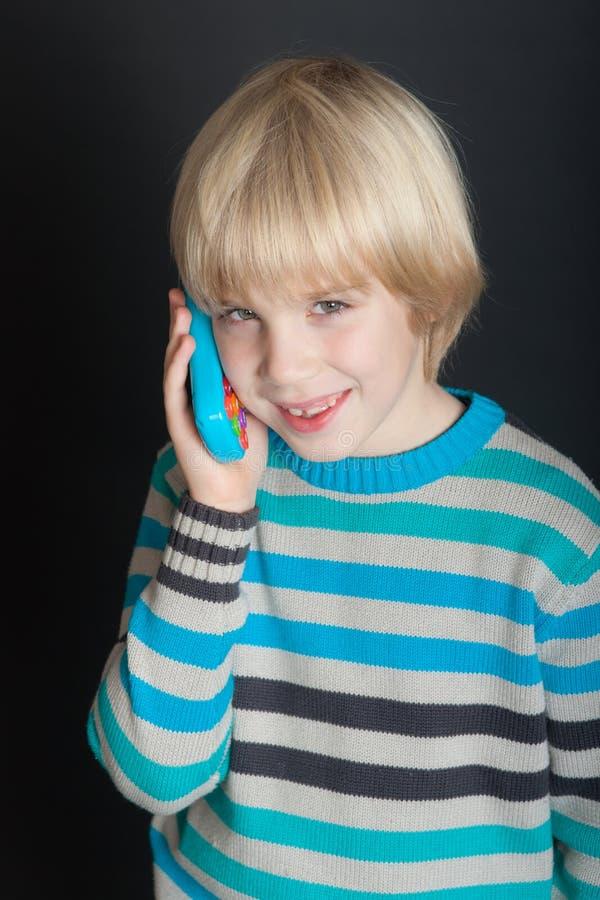 Портрет с телефоном стоковые изображения