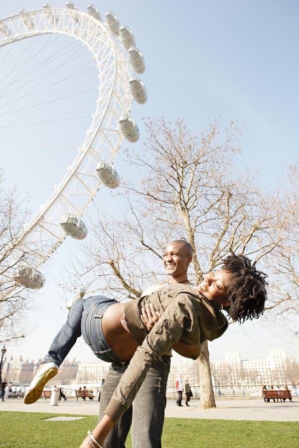 Портрет туристское шаловливого в Лондоне. стоковые фото