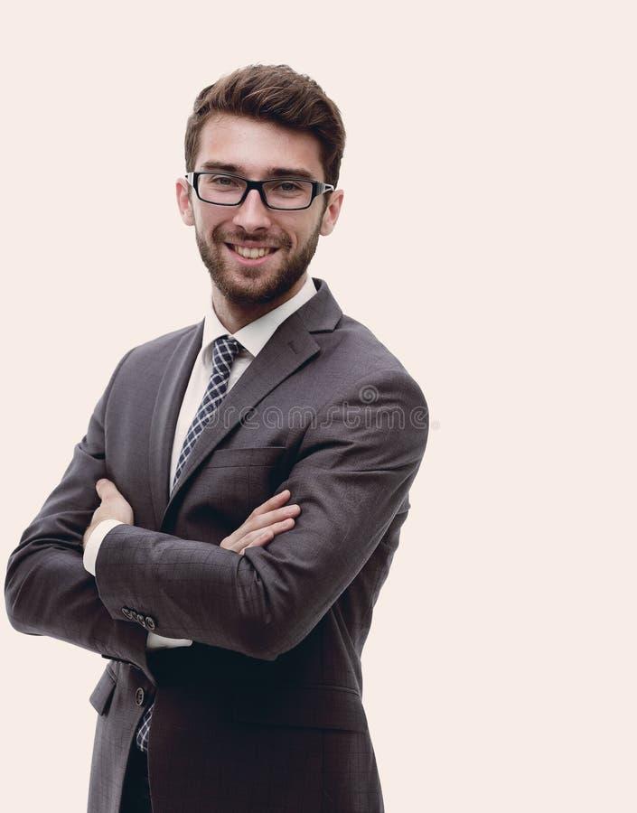 Портрет уверенно стильного бизнесмена стоковое фото