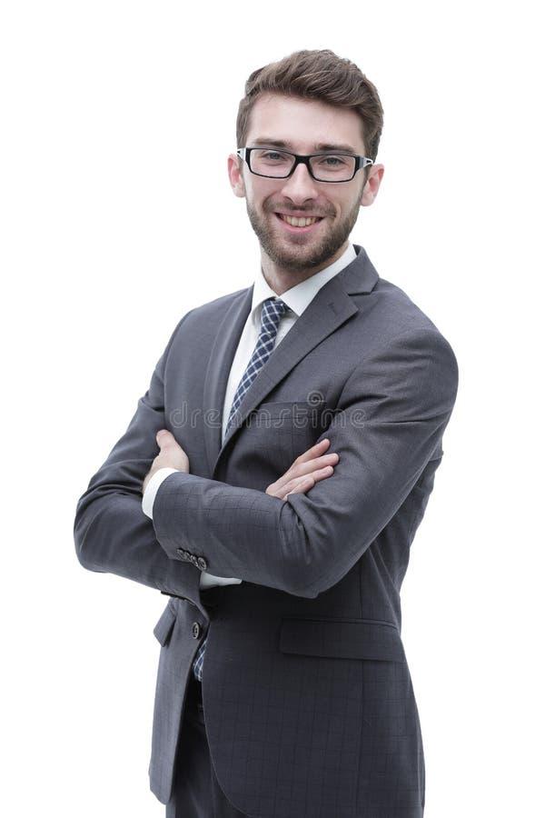 Портрет уверенно стильного бизнесмена стоковая фотография rf