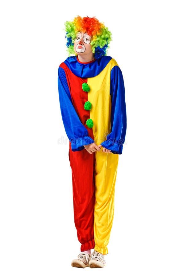 Портрет унылого клоуна стоковое фото rf