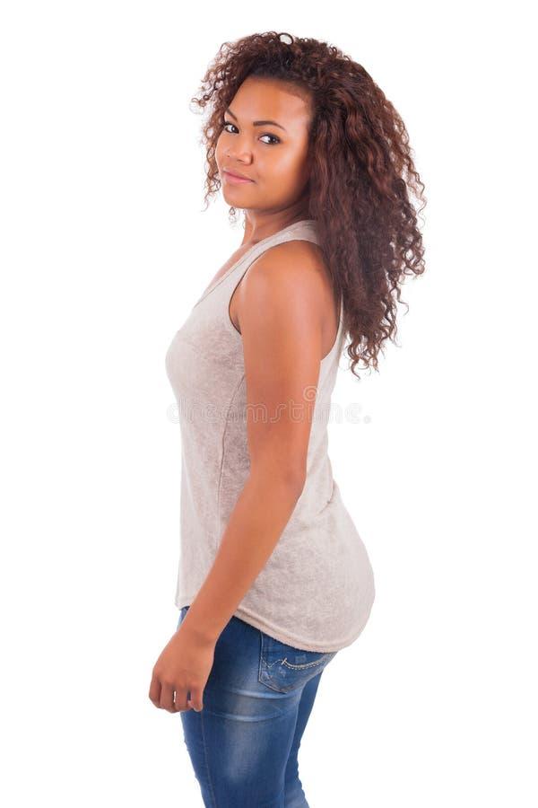 Портрет усмехаться изолированный девушкой стоковая фотография