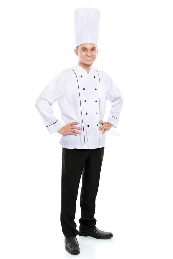 Портрет усмехаться шеф-повара стоковая фотография rf
