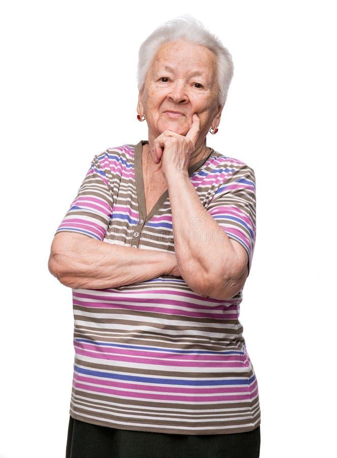 Портрет усмехаясь женщины стоковое изображение