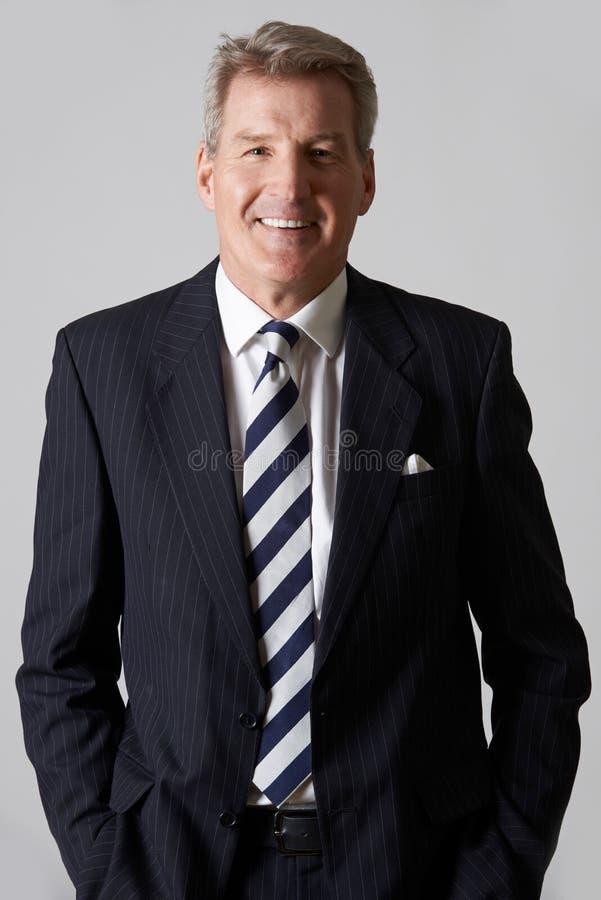 Портрет усмехаясь зрелого бизнесмена стоковые фото
