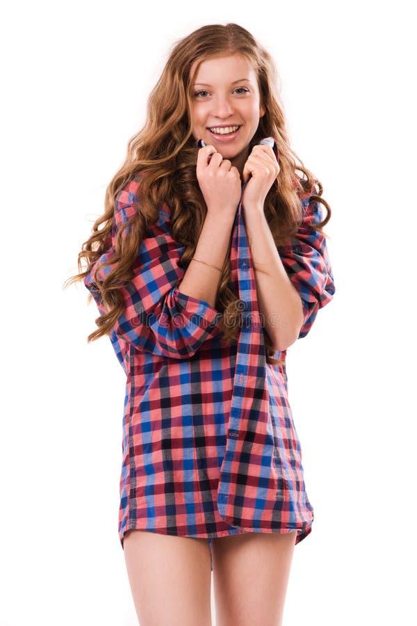 Портрет усмехаясь маленькой девочки стоковое фото rf