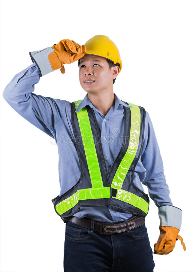 Портрет усмехаясь работника Азии стоковые изображения rf