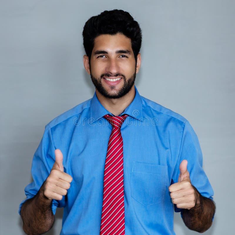 Портрет успешного латино-американского бизнесмена хипстера стоковая фотография rf