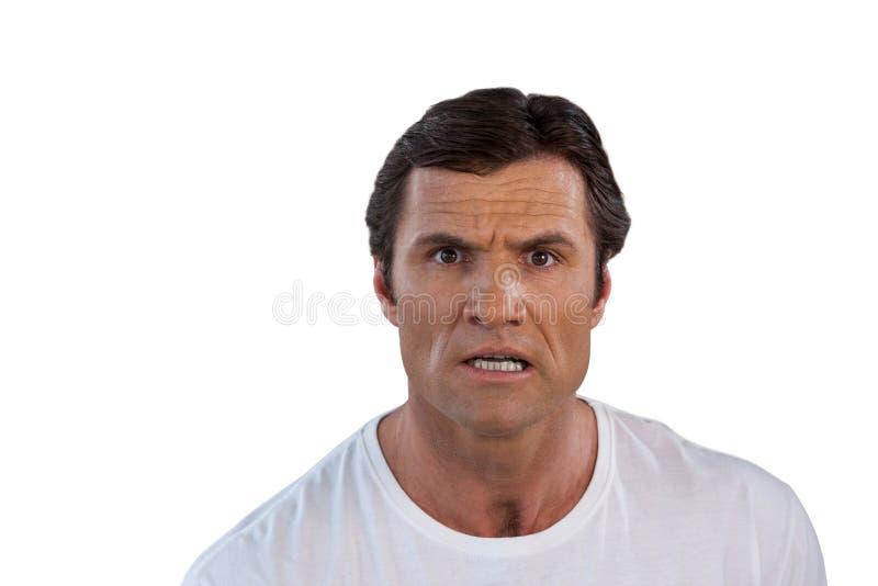 Портрет удивленного зрелого человека стоковые фото