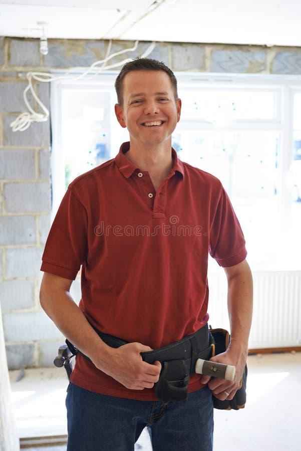 Портрет улучшений дома приведения в исполнение построителя стоковая фотография rf