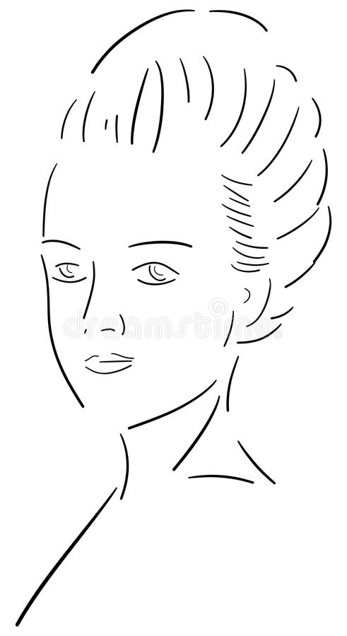 Портрет ферзя Мари Antoinette Франции иллюстрация штока