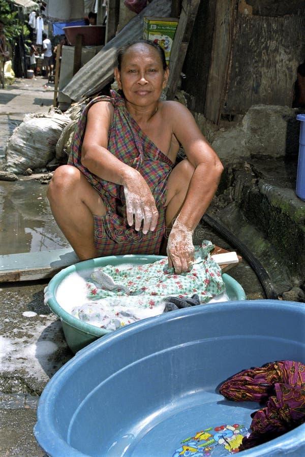 Портрет филиппинской женщины, города Манилы стоковое фото rf
