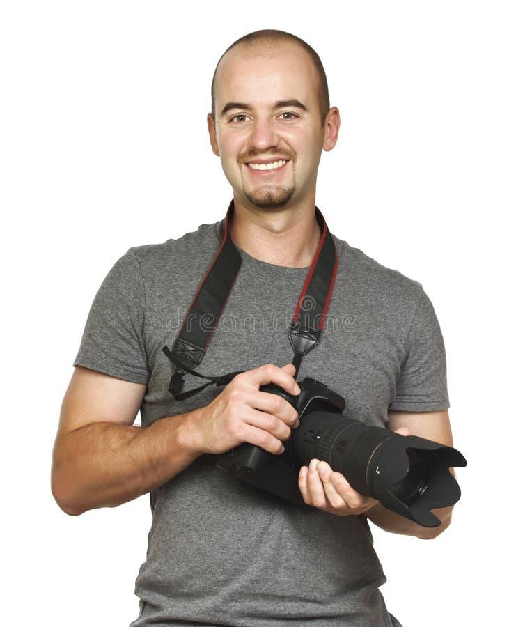 портрет фотографа стоковая фотография