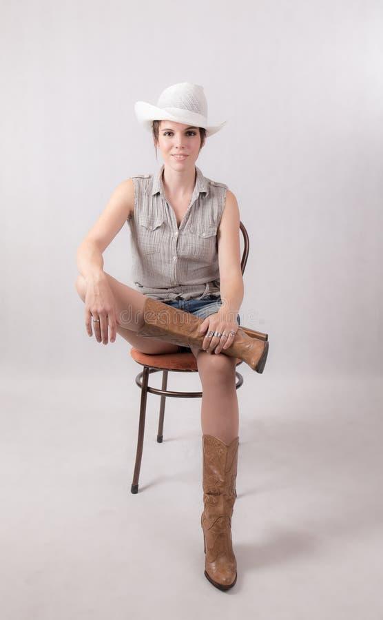 Портрет худенькой женщины стоковая фотография rf