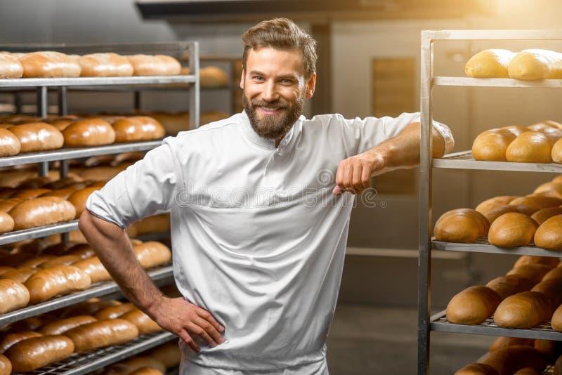 Портрет хлебопека стоковое изображение rf