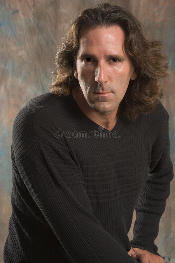 портрет человека возмужалый стоковое изображение rf