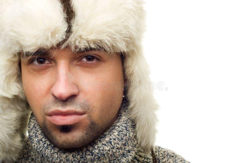 Портрет человека зимы стоковое фото