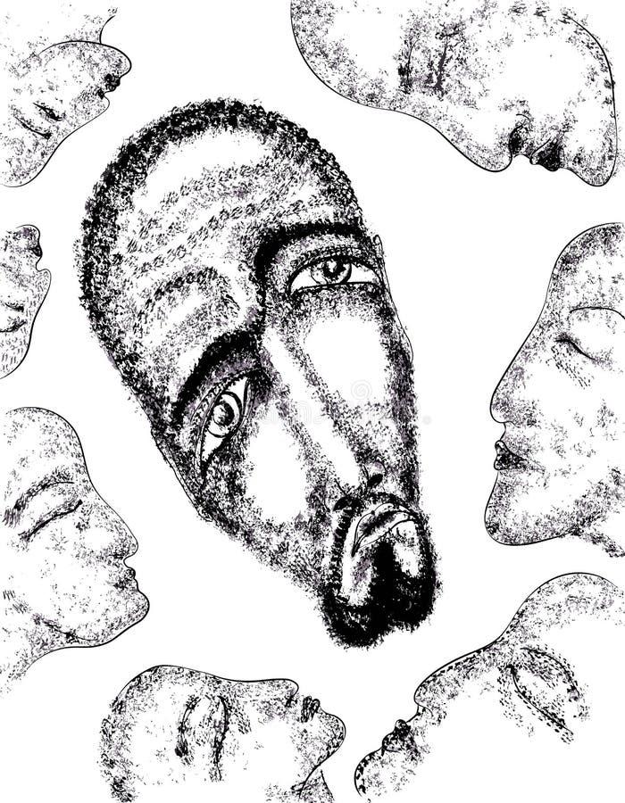 портрет человека иллюстрация вектора