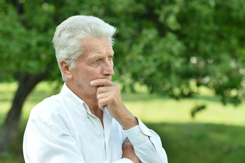 Портрет человека senoir стоковые фото