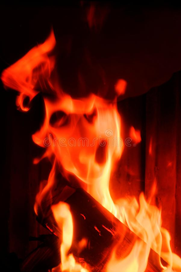 Портрет чудовища огня Пламя в форме стороны стоковое изображение rf