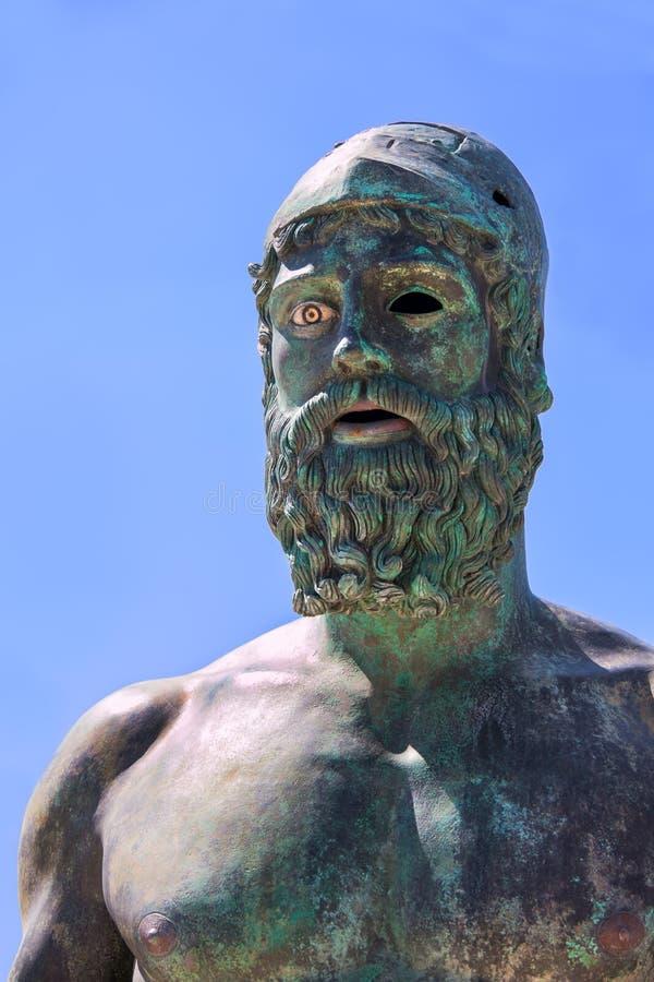 Портрет экземпляра Riace бронзового статуи b стоковое изображение rf