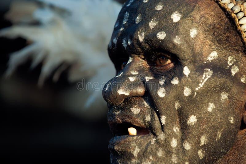 Портрет Asmat стоковая фотография