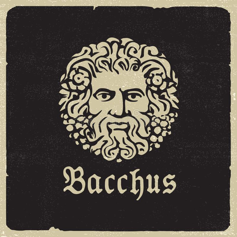 Портрет Bacchus иллюстрация штока