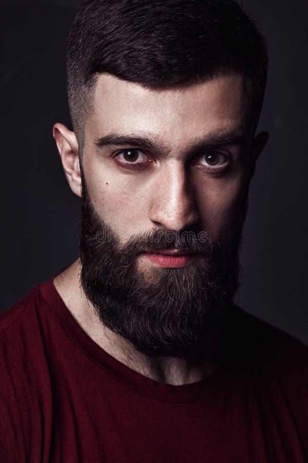 Портрет beardy человека стоковая фотография rf