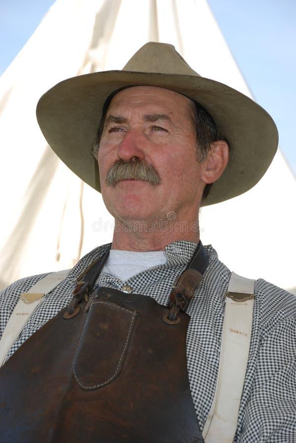 портрет blacksmith стоковая фотография