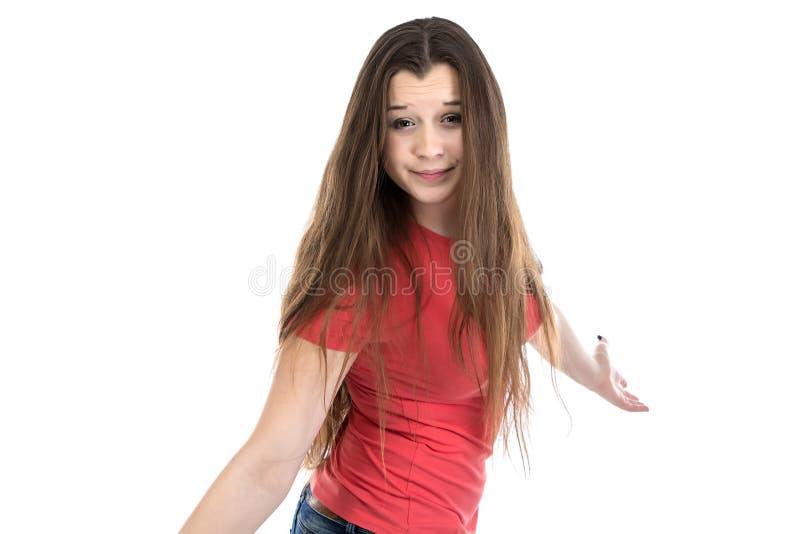 Портрет confused девочка-подростка стоковое фото