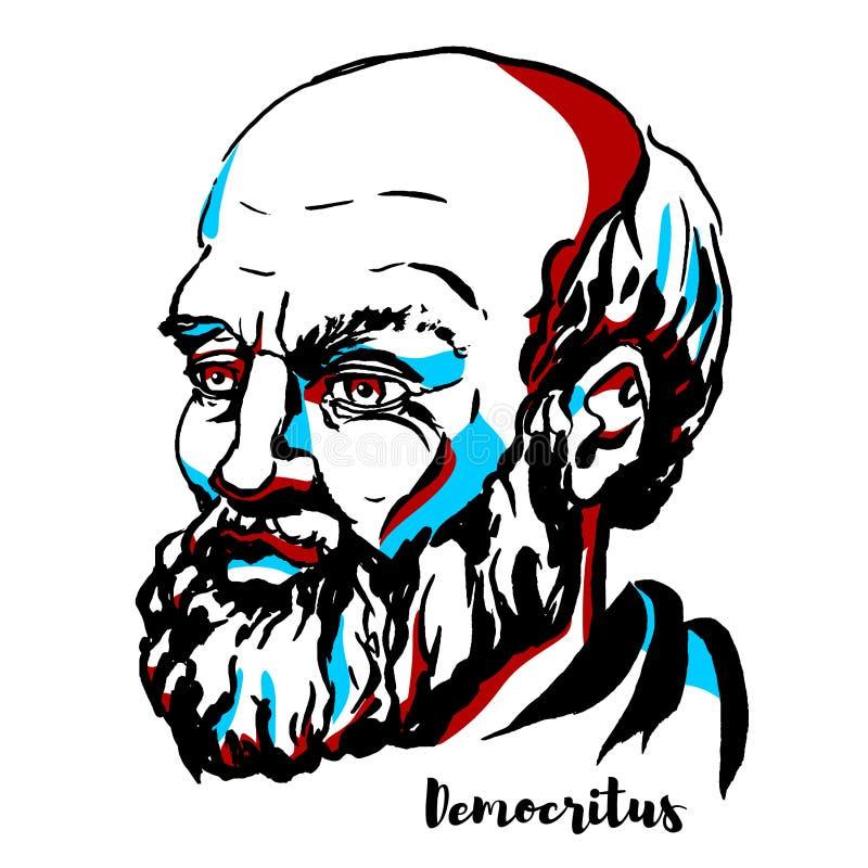 Портрет Democritus иллюстрация штока