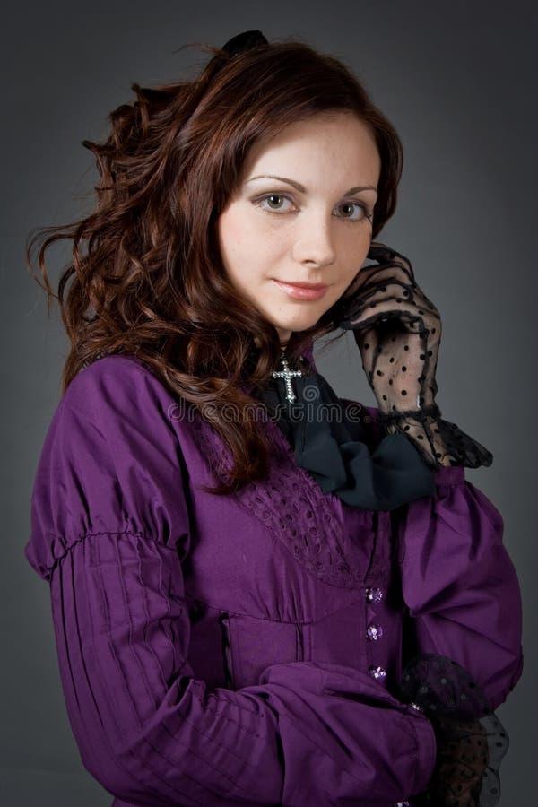 портрет goth девушки стоковые изображения rf