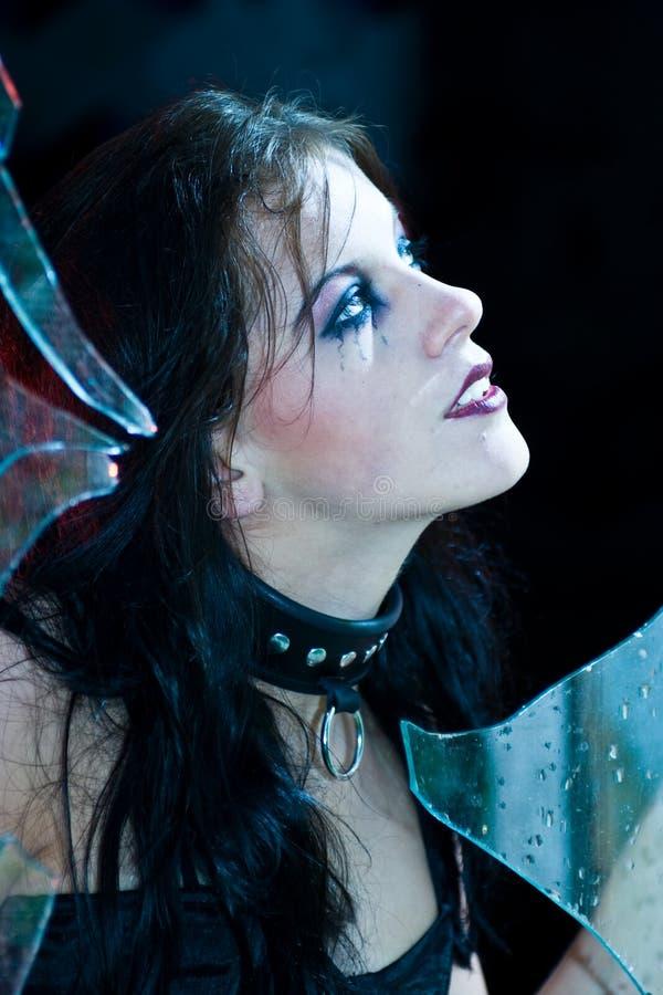 портрет goth девушки стоковая фотография