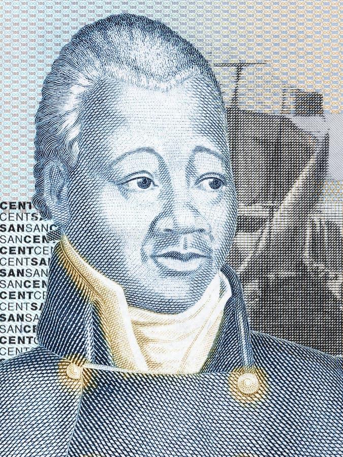 Портрет Henri Christophe стоковые изображения