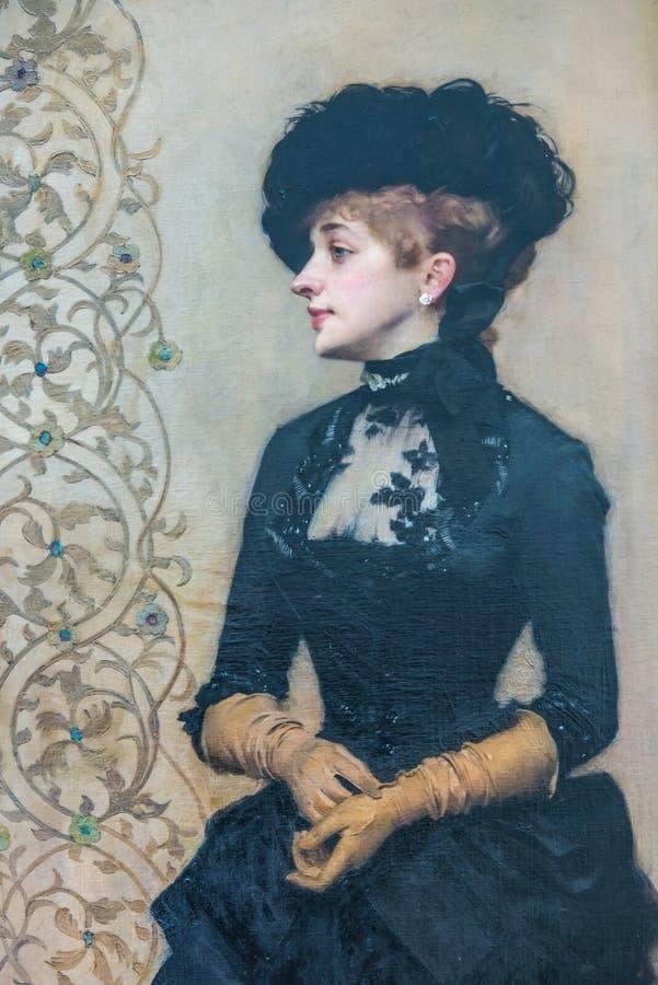 Портрет Jugendstil nouveau искусства бесплатная иллюстрация