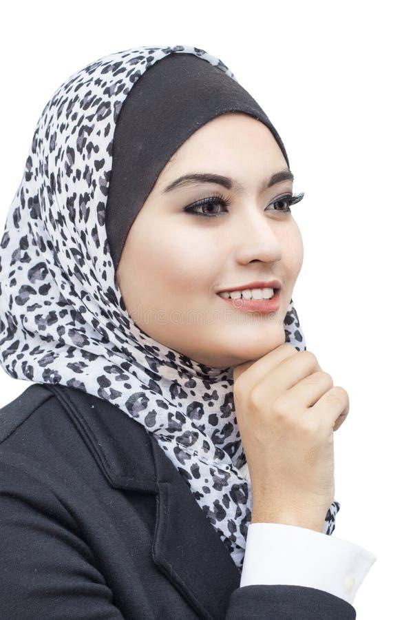 Портрет Muslimah стоковое изображение rf