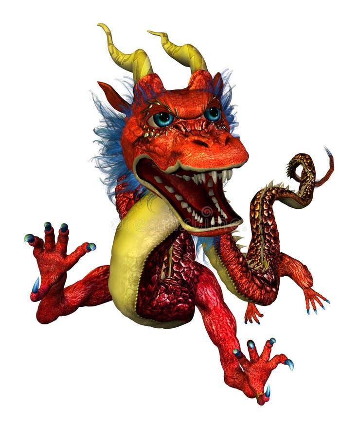 портрет oriental дракона бесплатная иллюстрация