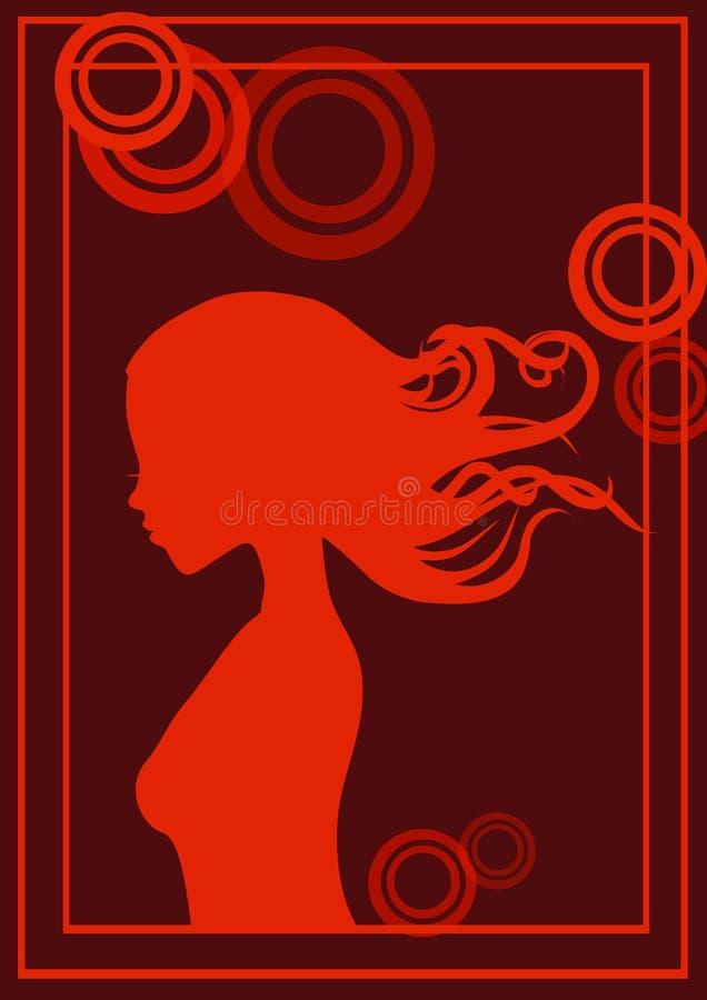портрет s девушки бесплатная иллюстрация
