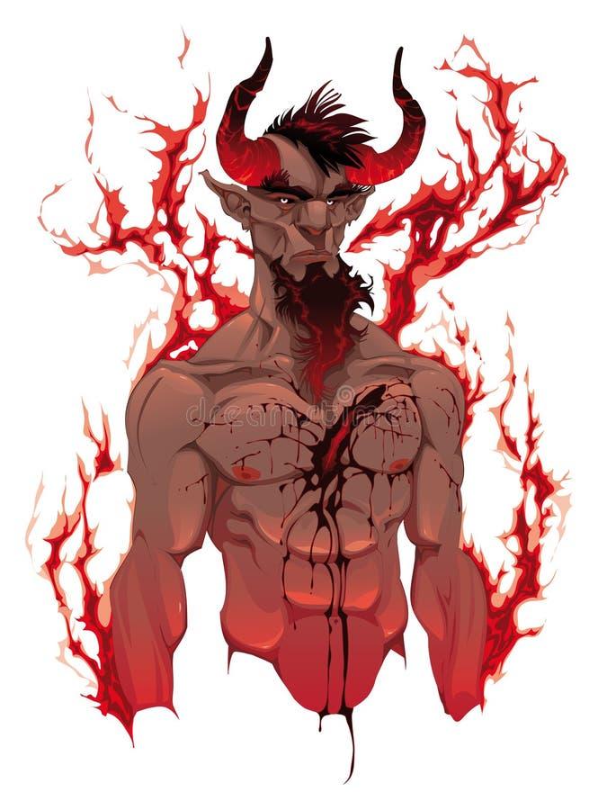 портрет s дьявола демона иллюстрация штока