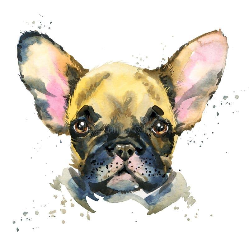 портрет s собаки Иллюстрация собаки щенка акварели бесплатная иллюстрация