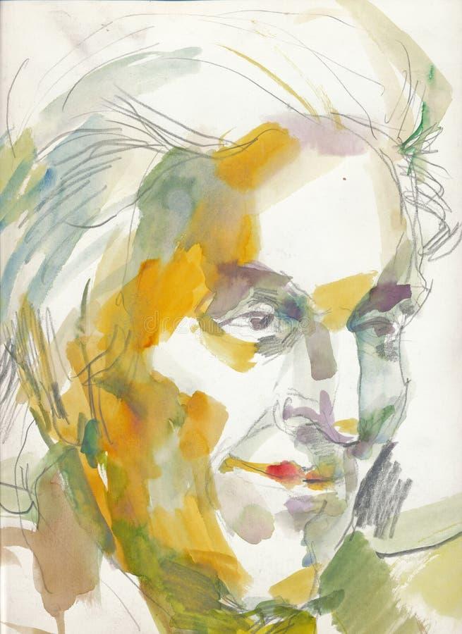портрет s человека чертежа стоковая фотография rf