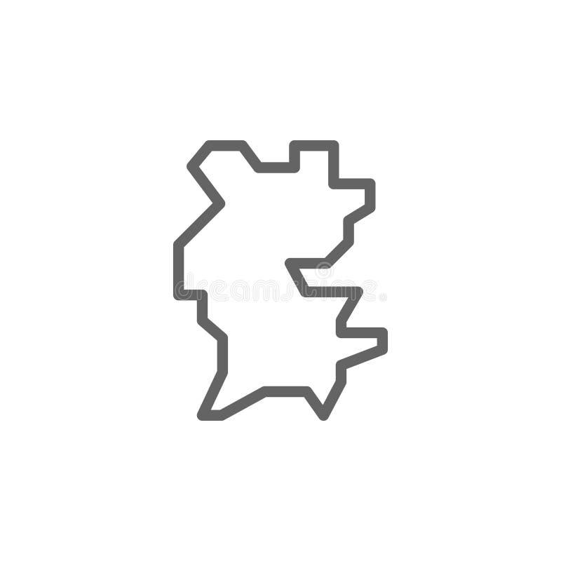 Португалия, значок карты Элемент значка Португалии E бесплатная иллюстрация