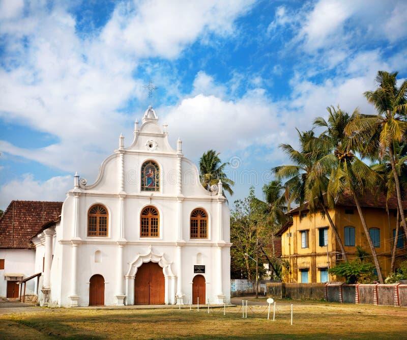 португалка kochi церков колониальная стоковая фотография